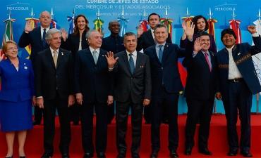 El presidente Macri le entregó a Brasil la presidencia pro tempore del Mercosur