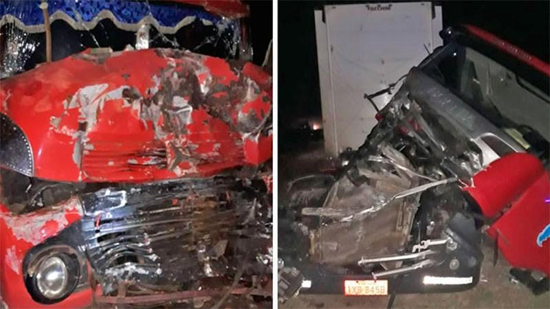 Impresionante choque de tres camiones en la Autovía Artigas y la Ruta 015