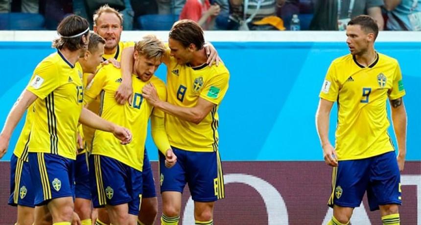Suecia le ganó a Suiza y se metió entre los ocho mejores equipos del Mundial