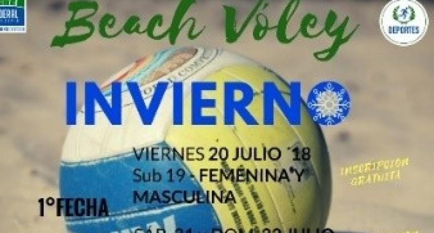 COMIENZA EL CIRCUITO FEDERALENSE DE BEACH VÓLEY INVIERNO