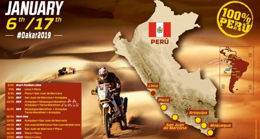 Dakar 2019: se dio a conocer el recorrido de la 41° edición del Rally