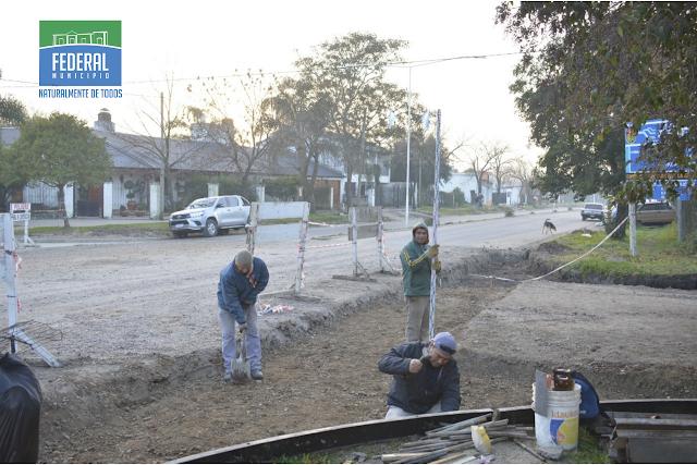 Desde el Municipio se avanza con obras de badenes y cordones cuneta