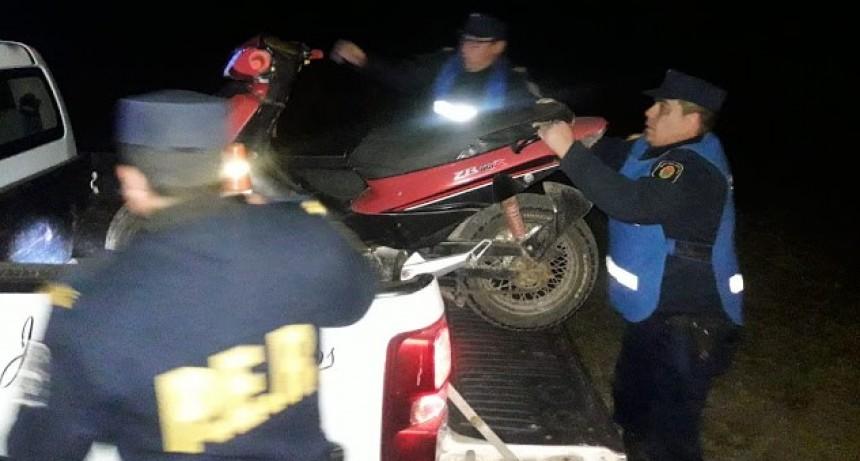 Operativos realizados en conjunto obtuvieron como resultado las retenciones de motos y autos