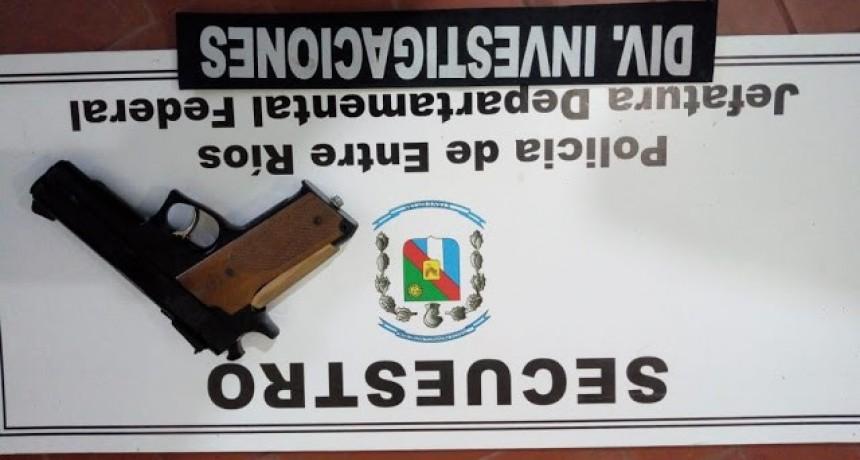 División Investigaciones trabaja a fin de establecer la identidad de quienes tenían una replica de arma de fuego para cometer ilícitos