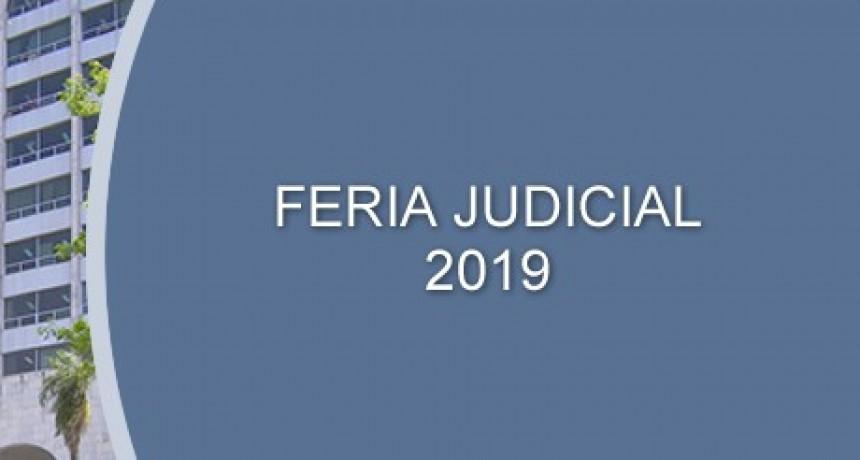El listado de magistrados y funcionarios en servicio durante la feria judicial en Federal