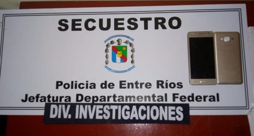 División Investigaciones secuestra telefonía celular que fuera sustraída