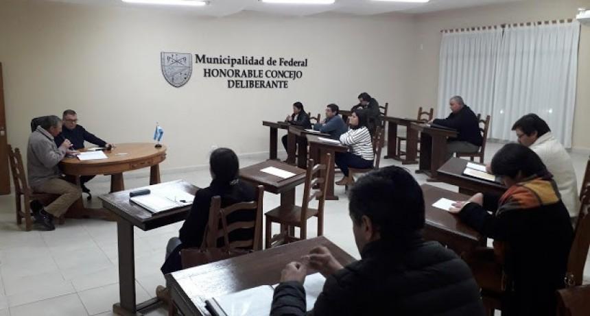Sesión Ordinaria del Concejo Deliberante de Federal
