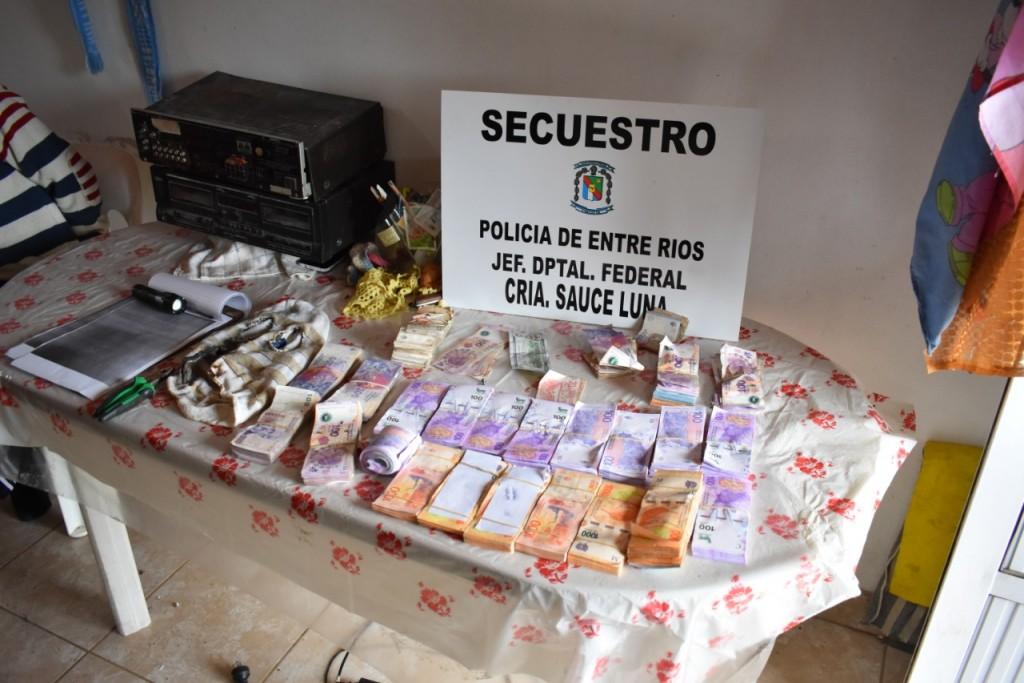 Sauce de Luna: Importante secuestro de suma de dinero y aprehensión del autor material