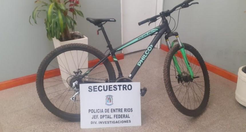 Secuestro de una (01) bicicleta marca PHILCO