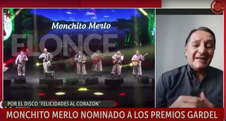Monchito Merlo nominado a premios Gardel: