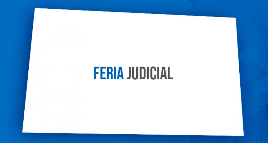La feria judicial de invierno será del 13 al 24 de julio