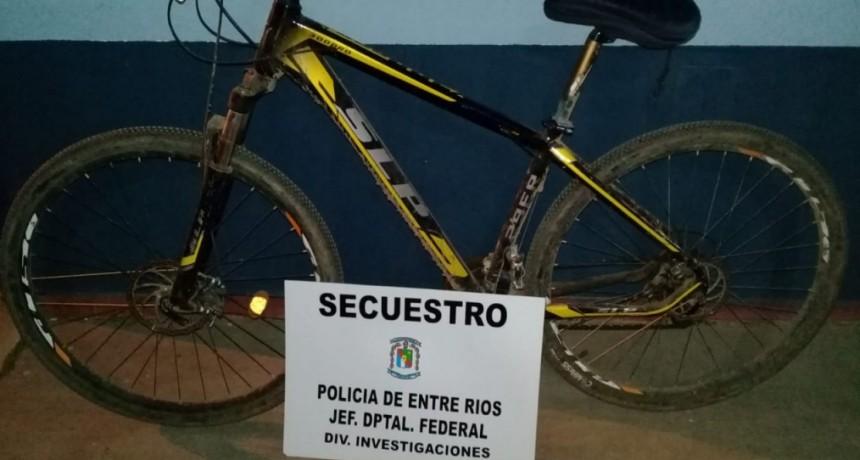 Formal secuestro de bicicleta