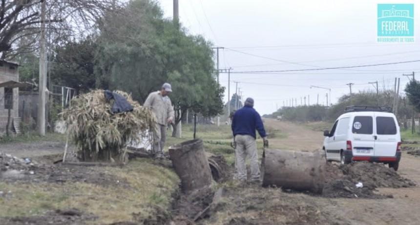 Se concretan trabajos importantes en barrio 25 de Mayo