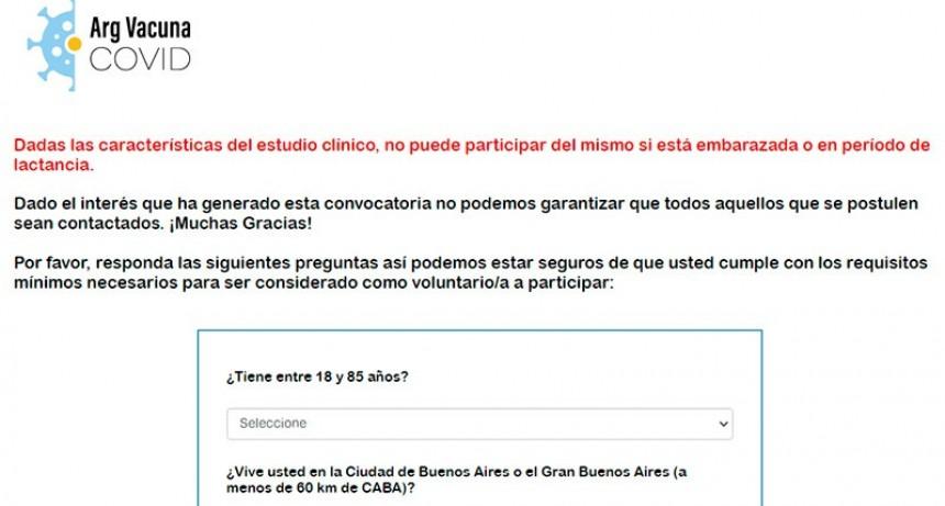 Abren inscripción para ensayo de vacuna de Covid-19 en Argentina: Cómo anotarse