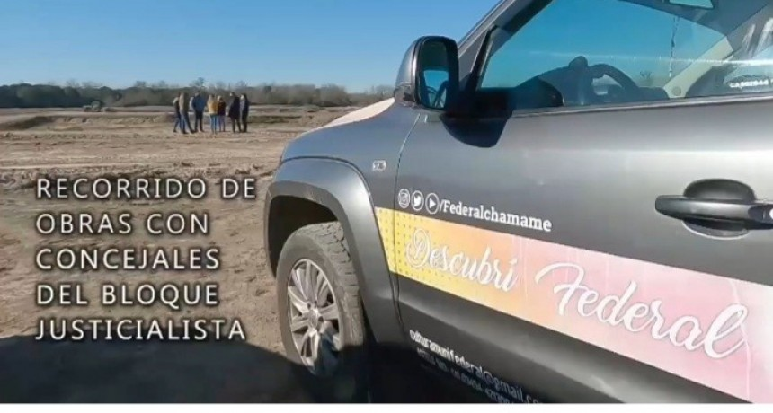 El Intendente Chapino recorrió las obras en la Ciudad junto al Bloque de Concejales Justicialista