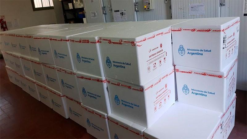 Llegaron 46.400 dosis de vacunas a Entre Ríos y comenzarán a distribuirlas