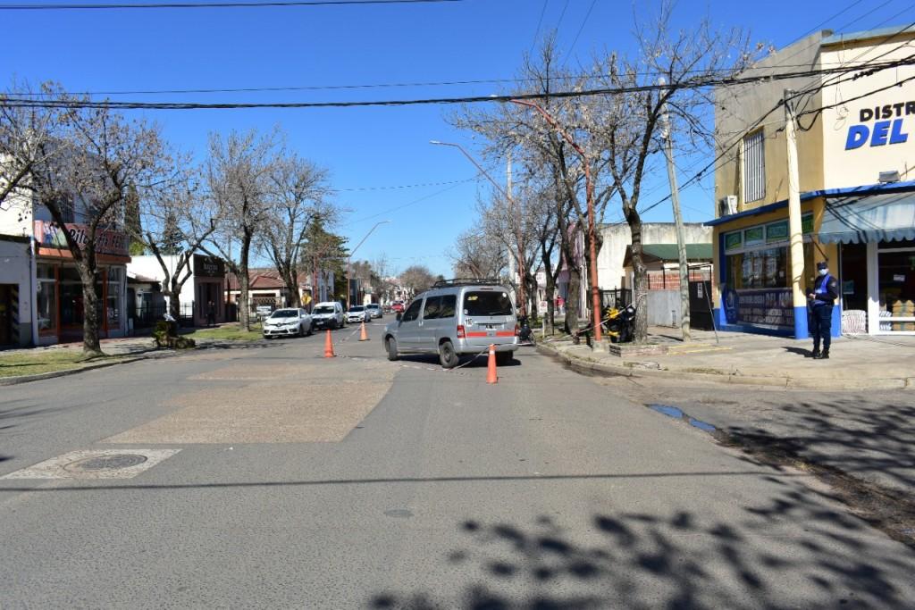 Siniestro vial en calle Belgrano y 12 de Octubre