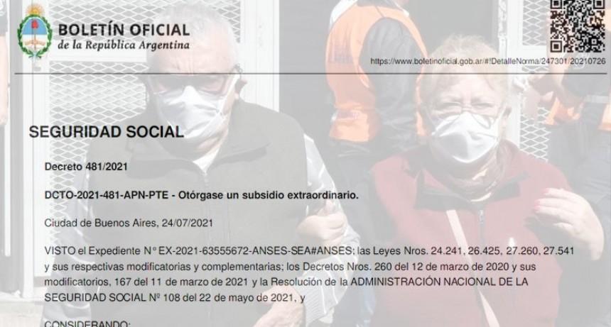 Oficializaron el bono de hasta 5.000 pesos para jubilados: quiénes lo cobrarán