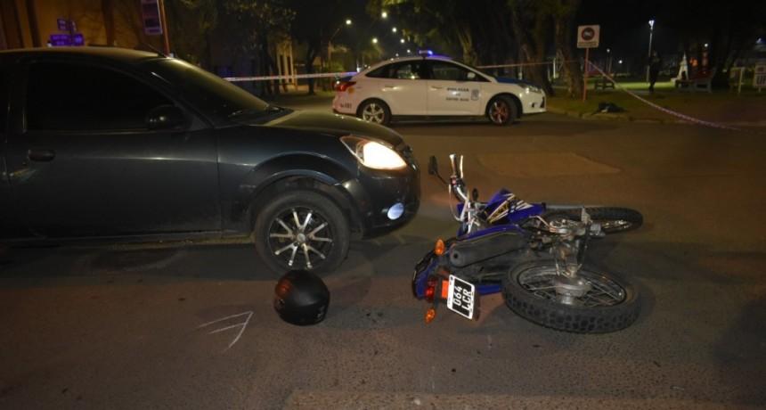 Accidente de tránsito, en intersección de calles Santa Rosa de Lima y Dónovan