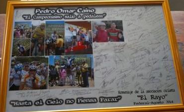 Emotivo homenaje al Ciclista Pedro Omar Caíno en Federal