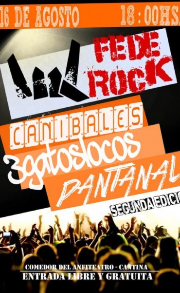 Este domingo Federal a puro Rock con el 2do. FedeRock