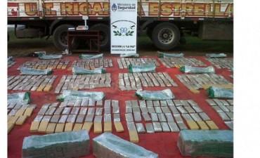 2000 kg de Marihuana fueron secuestrados por Gendarmería cerca de La Paz