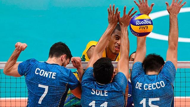 Brasil le puso fin al sueño olímpico del vóley argentino