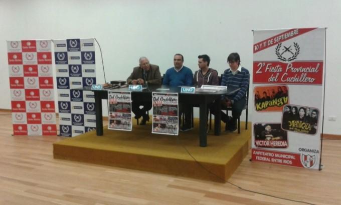 Presentaron la II Fiesta del Cuchillero en Villaguay