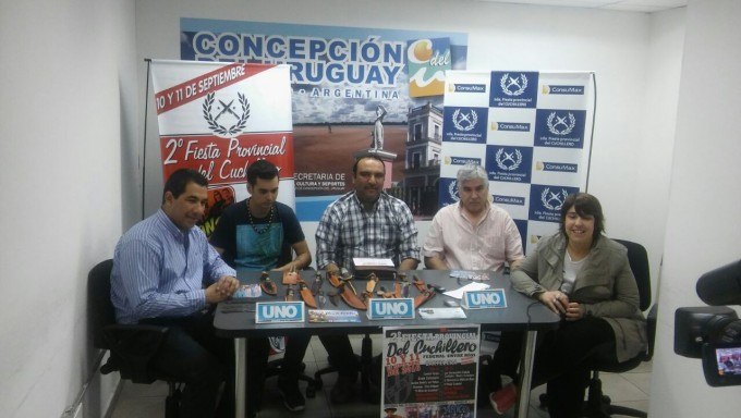 Lanzamiento de la segunda Fiesta Provincial del Cuchillero en la ciudad de Concepción del Uruguay