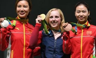 La primera medalla de oro, para una tiradora de EEUU