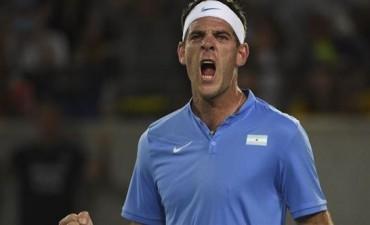 Un triunfo de oro: Del Potro jugó perfecto y eliminó a Djokovic