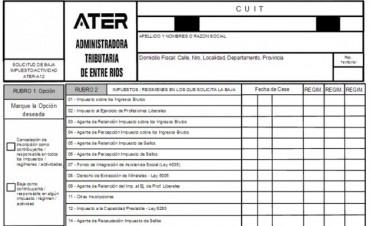 ATER pone en vigencia nuevo esquema de bajas para impuestos declarativos