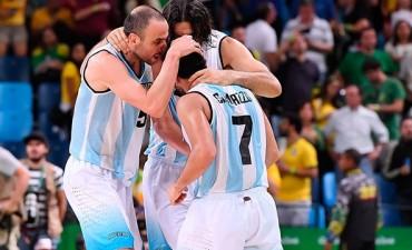 Partidazo de la Selección Argentina de Básquet para derrotar a Brasil y sellar la clasificación