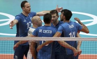Vóley: Argentina venció a Egipto, aseguró el primer lugar y espera rival en cuartos