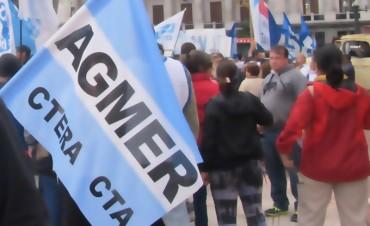 El paro que realizan docentes de AGMER tuvo un 90% de adhesión en provincia
