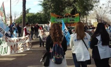 El paro nacional docente tuvo un 95% de adhesión en Entre Ríos