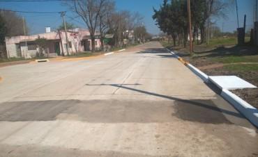 Se inauguro la obra de reconstrucción de calle Artussi y Eulogio Gonzalez con fondos municipales