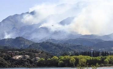 Los incendios forestales en San Luis ya afectaron 8.500 hectáreas