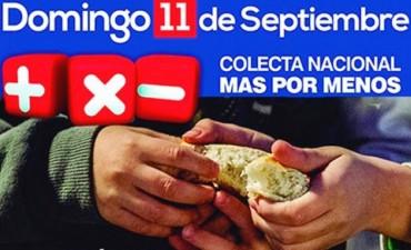La Colecta Más por Menos se realiza los días 10 y 11 de septiembre