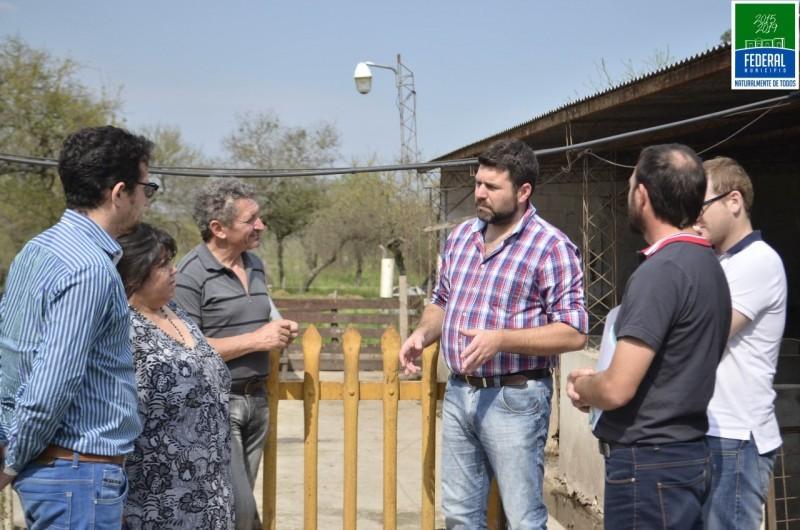 El Director de Agricultura de la Provincia visito Federal