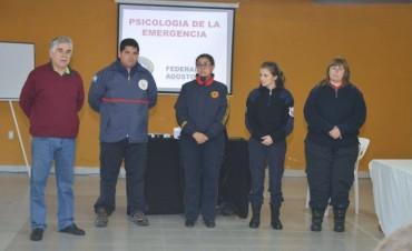 En Federal Bomberos Voluntarios realizaron curso de Psicología de la Emergencia .