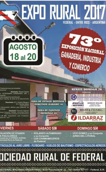 Conozca el programa de la 73 Exposición Nacional de Ganadería , Industria y Comercio de Federal