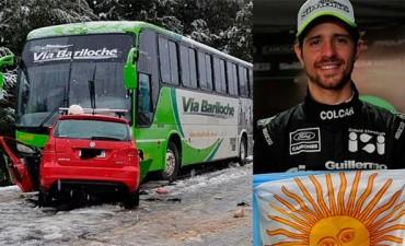 Mauro Giallombardo chocó contra un colectivo y su estado es grave