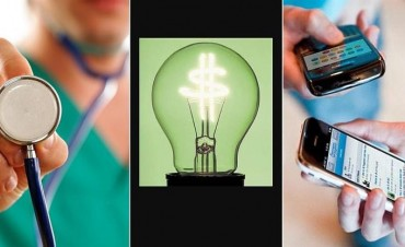 Los aumentos que se vienen: suben prepagas, la luz y los celulares