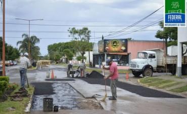 Los detalles de como sera el re-asfaltado  de calles de Federal