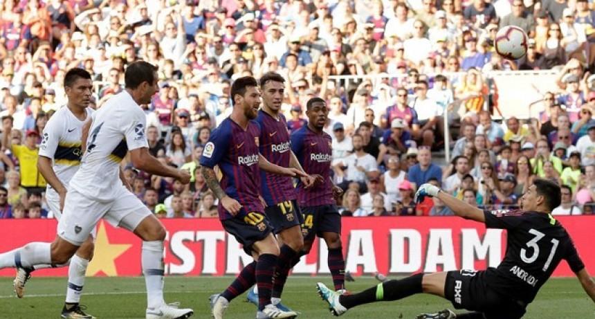 Boca sufrió el poderío del Barcelona de Messi y cayó por la Copa Joan Gamper