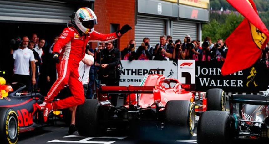 Vettel ganó en Spa Francorchamps el Gran Premio y le descuenta a Hamilton