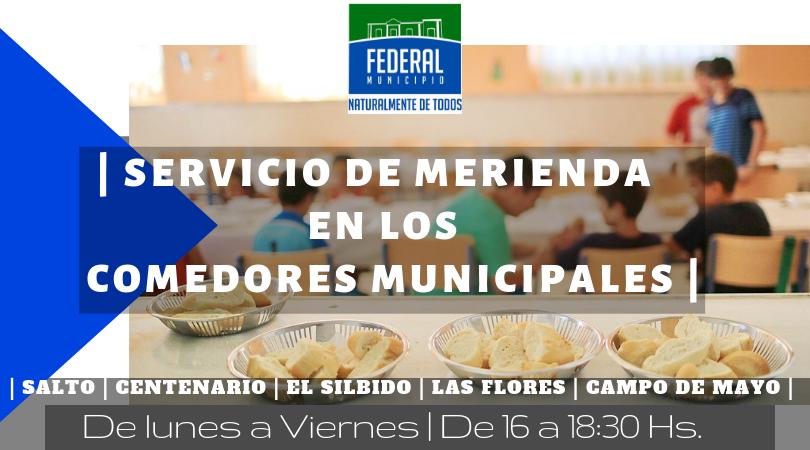 Merienda gratuita en Comedores Municipales