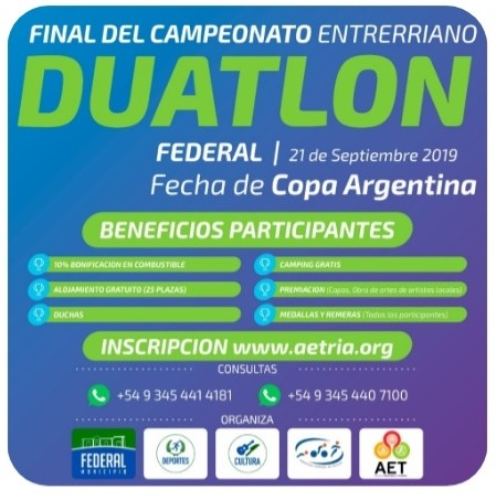 En Federal se disputa la final del Entrerriano de Duatlon