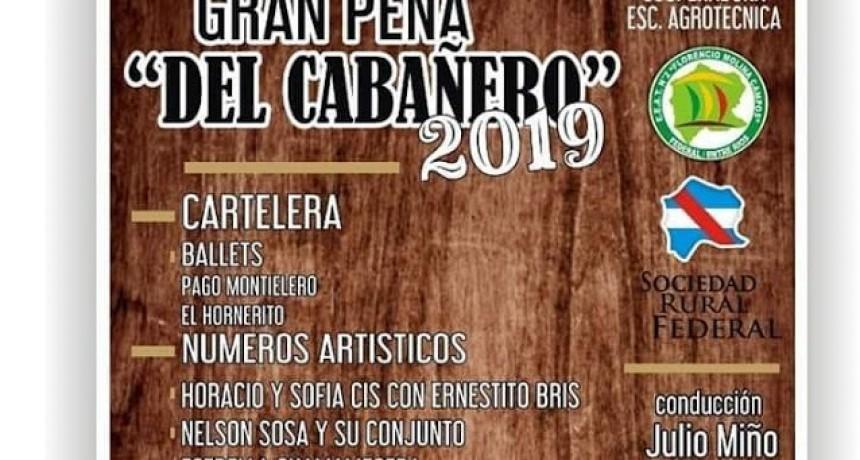 Se viene la Peña del Cabañero en la Expo Rural de Federal